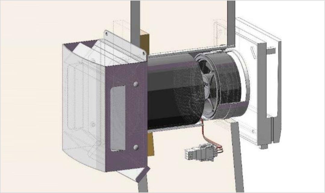 2. 熱交換換気扇のしくみ